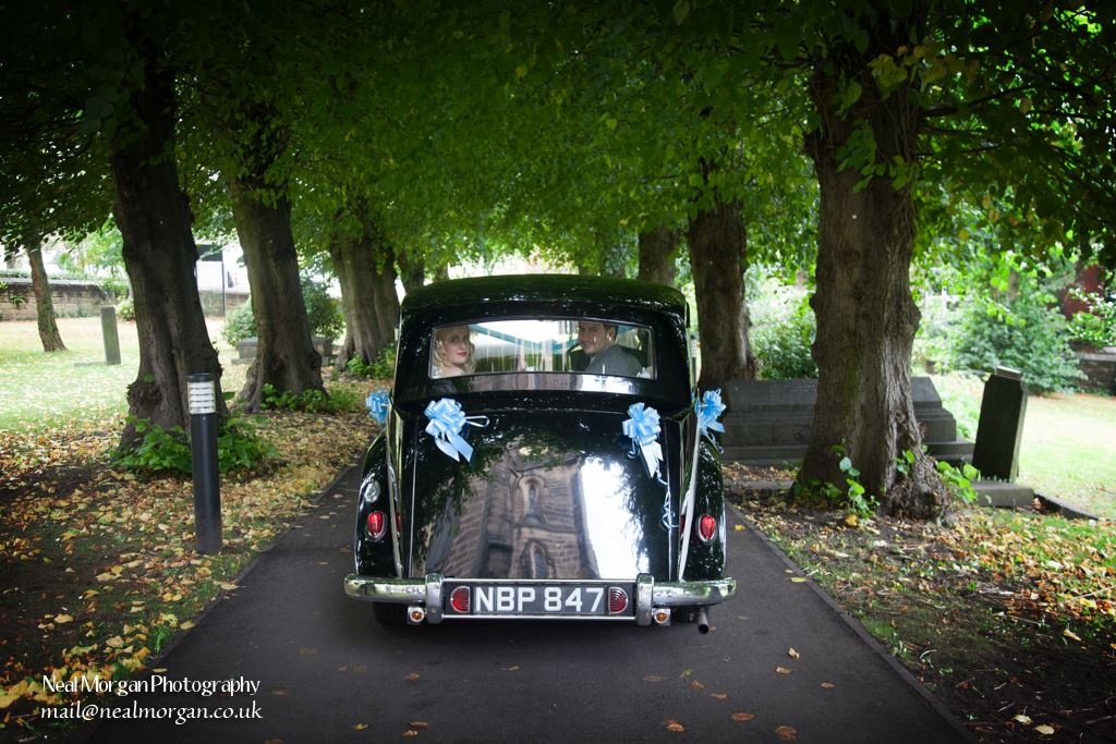 Wedding photographer Neal Morgan at St Peters Belper
